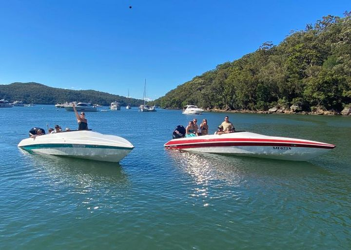 What a day to be on the water! Spotted these 2 Force F23's soaking up the sun in Broken Bay.