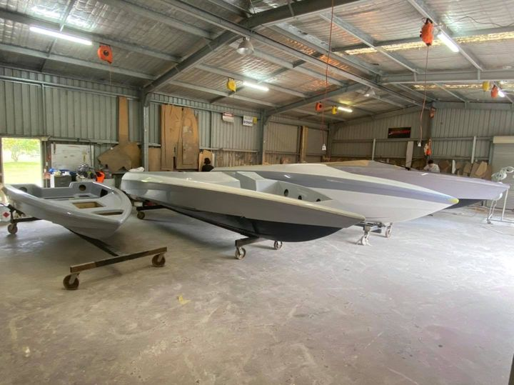 Grey is officially the colour of the year! These Force Boats are in all different shades of greys. Pictured we have an F13, F21XB, F24 and F25XS. All 4 will enjoy the latest Mercury engines and Force custom trailers.